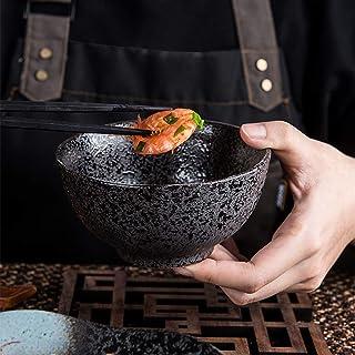LXX-ボウル 家庭用ライスボウル麺スープボウル日本の食器レトロセラミックサラダミキシングボウル (Color : C)
