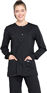 Cherokee Women's Professionals Ww340 Snap Front Warm-Up Jacket