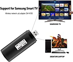 ZMLM USB WiFi Adapter for Samsung Smart TV, 802.11ac 2.4GHz and 5GHz Dual-Band (Year 2009-2011 Models) Wireless Network Wi-Fi LAN Adapter Stick for Samsung TV Windows 10/8 / 8.1/7/ Vista/XP/ 2000