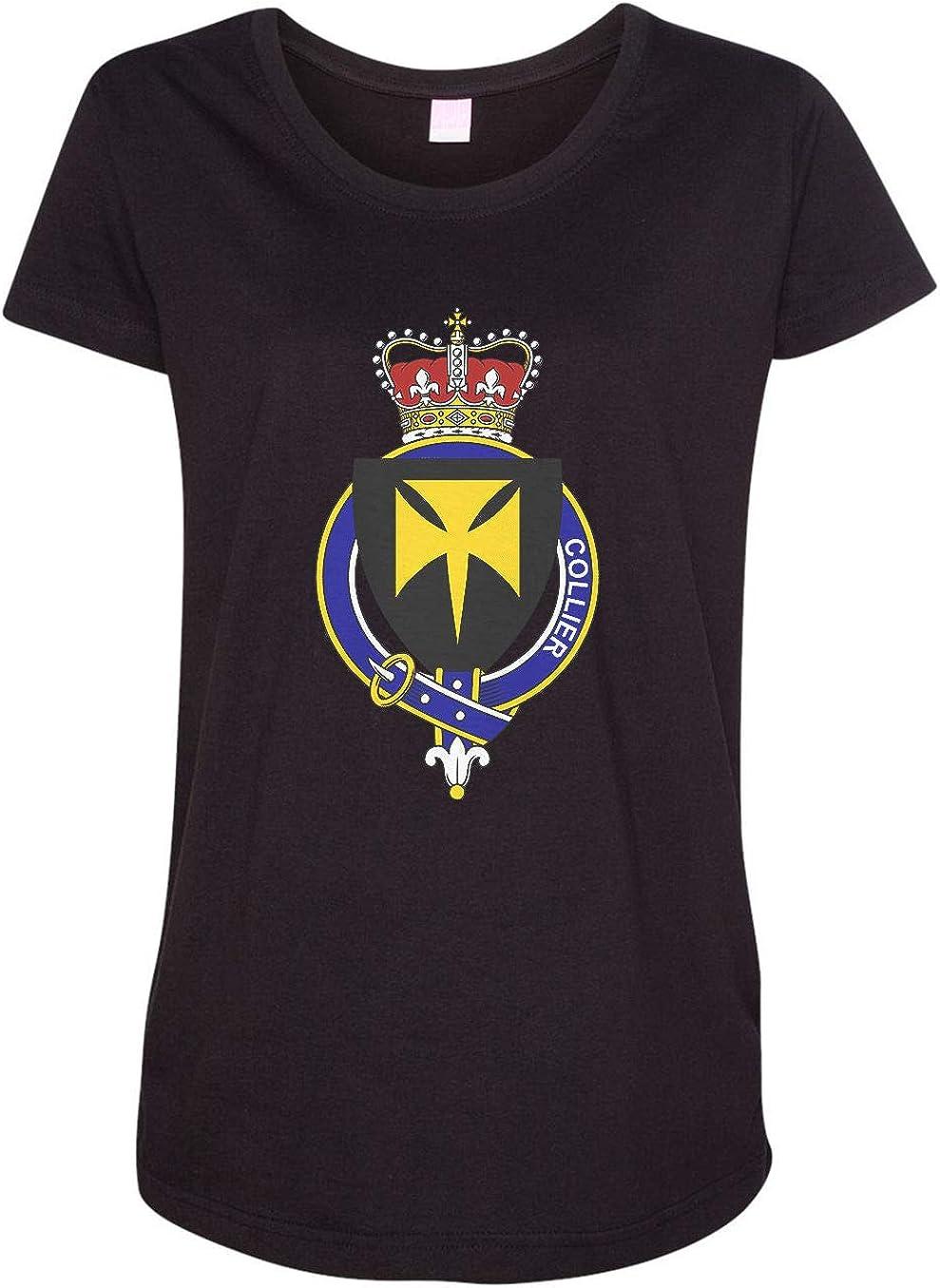 HARD EDGE DESIGN Women's English Garter Family Collier T-Shirt