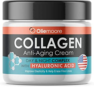 Collagen Face Cream for Women - Anti Wrinkle Cream for Face with Hyaluronic Acid & Vitamin C - Day & Night Cream for Women Anti Aging Face Moisturizer