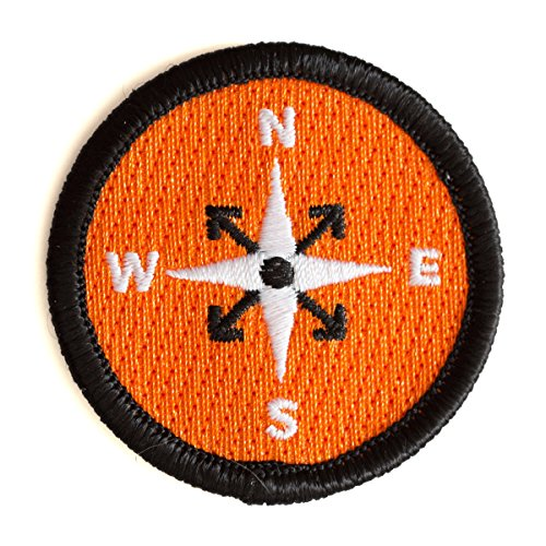 These Are Things Compass Embroidered Iron On or Sew On Patch