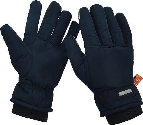 Men s Fleece Winter Gloves Hiver 043 Blue X Large