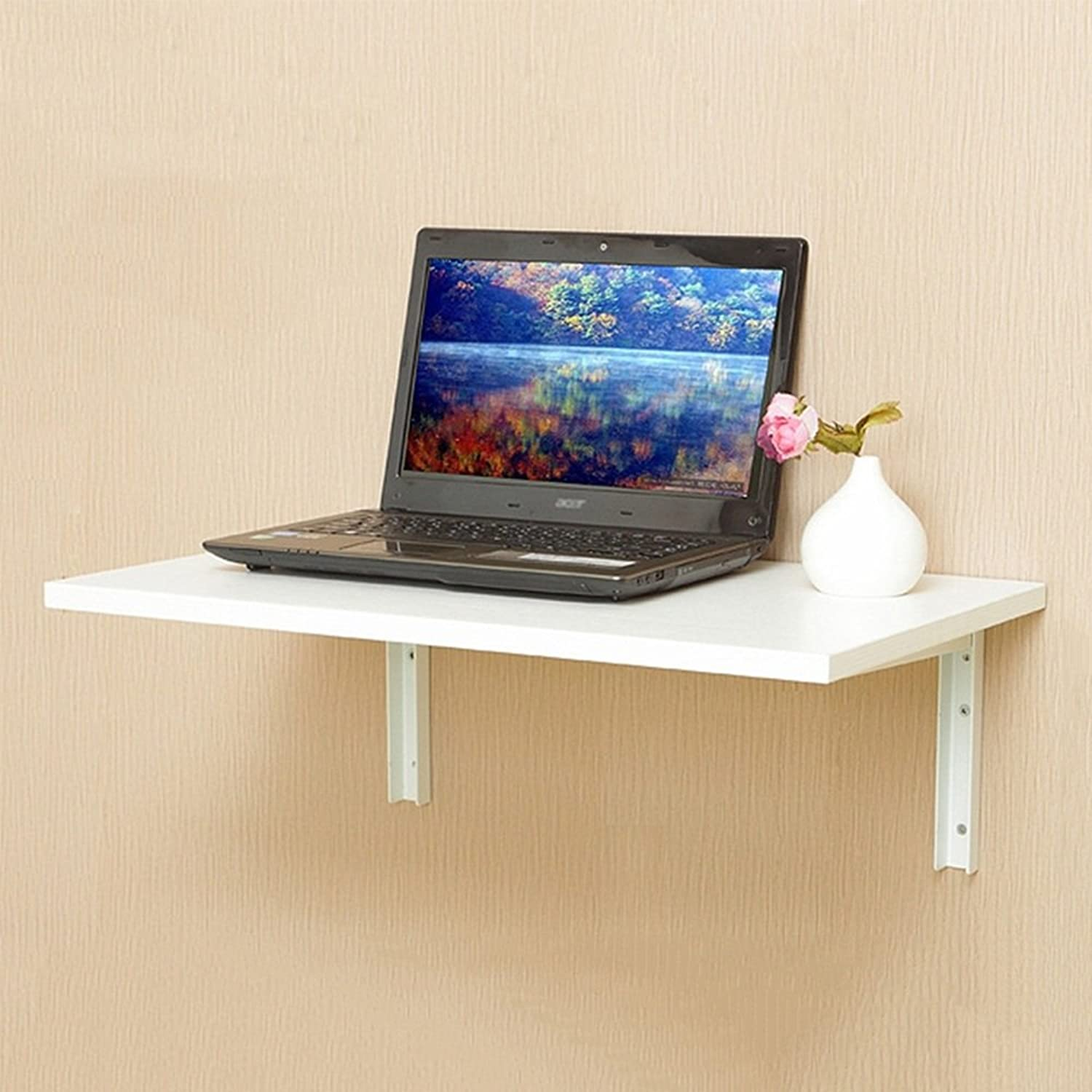 NAN Folding Table Wall Shelf Wall by The Desk Size Optional Folding Tables (color   White, Size   60  40cm)