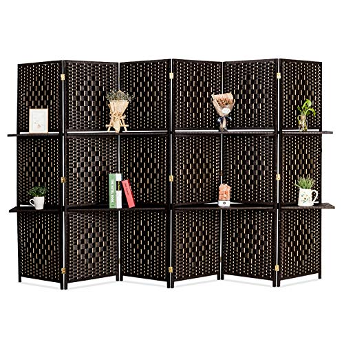Bonnlo Upgraded HeavyRattan Room Divider