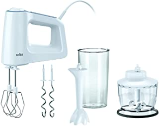 Braun HM 3135 WH 500W Hand mixer White - Braun HM 3135 WH, Hand mixer, 0.5 L, White, Plastic, Stainless steel, 500 W