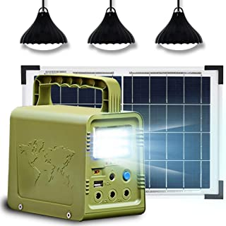 ECO-WORTHY 84Wh Solar Generator with Panels Included, Portable Power Station with 18W Solar Panel and 3 LED Lamp for Outdo...
