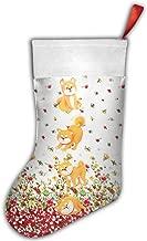 Cute Shiba Dog Lovly Animals Shiba Inu Christmas Holiday Stockings Santa's Toys Stockings Custom Distinctive Design
