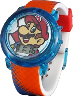 Super Mario Flashing Strap LCD Kids Watch