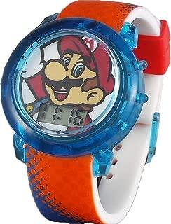 Super Mario Flashing Lights LCD Watch