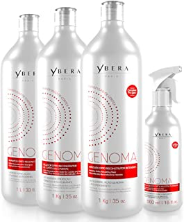 Ybera Genoma Cortex Transfusion Therapy | Restores the DNA of the Capillary Fiber | Renews the Cortex of the Strand to its Original State | Softness, Shine and Restructure Roots to Ends | Set of 4