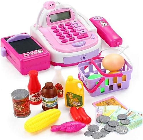 GLJJQMY Kinderspielhaus Spielzeug Für Kinder Kann Scan-Verst ung Verst ung Berechnung Simulation Supermarkt Checkout Set 14,5x10,5x28cm Lernspielzeug für Kinder