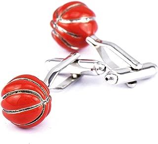 Aooaz Cufflinks Unique Basketball Cufflink for Men Red