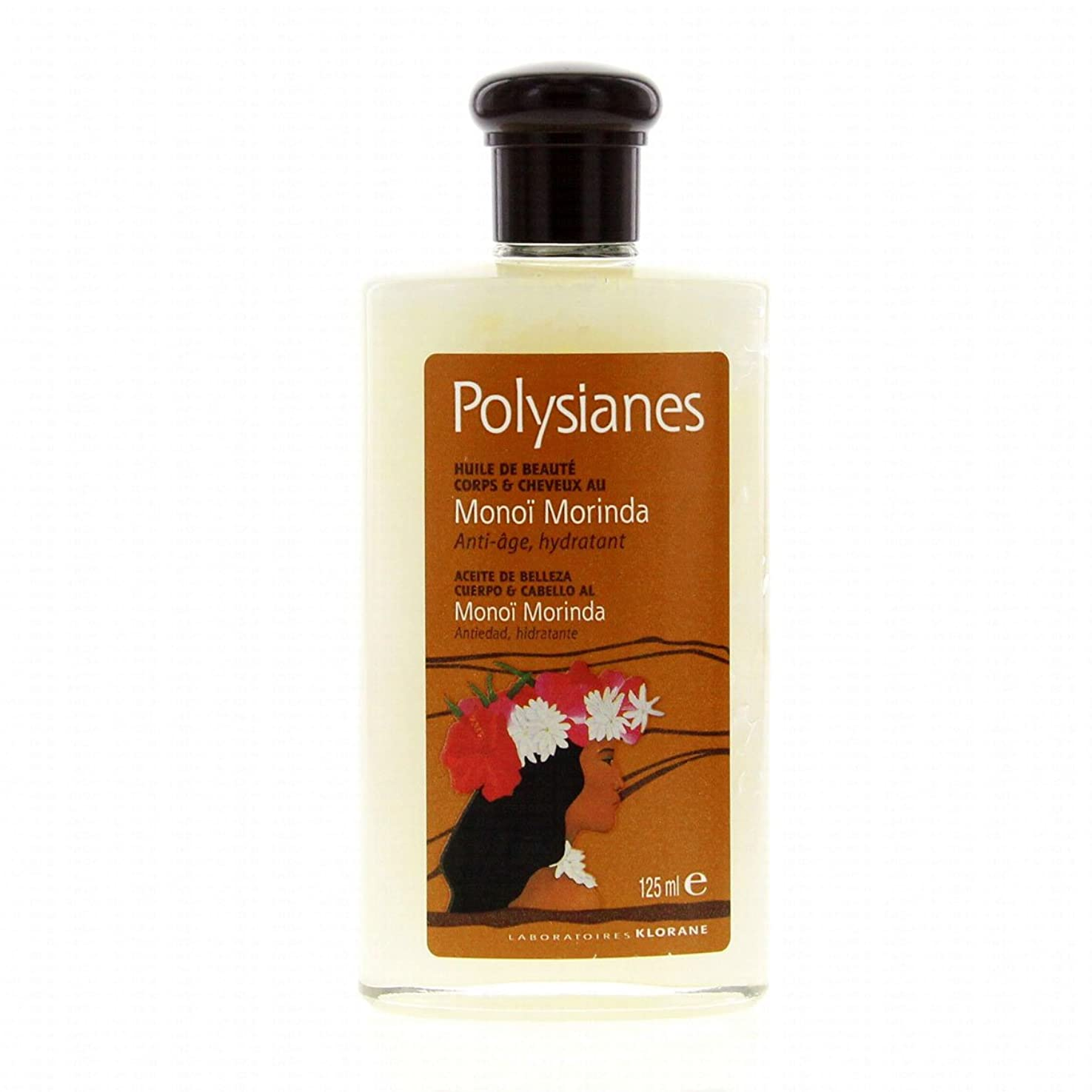注入擬人製品Polysianes Beauty Oil With Morinda Mono Body And Hair 125ml [並行輸入品]