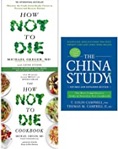How not to die, cookbook [Hardcover] and china study 3 books collection set