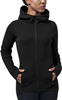 Urban Classics Ladies Athletic Interlock Zip Hoody Felpa Donna