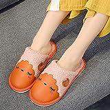 Flip Flop-GQ Zapatillas de algodón de Interior cálidas de Dibujos Animados Zapatillas de Dibujos Animados de Espuma de Memoria para niños Unisex Winter Comfort Interior @ Orange_43 / 44 Yardas