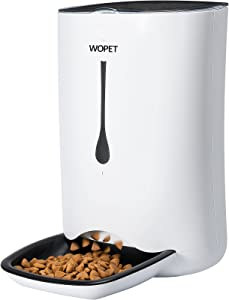WOPET Automatic Pet Feeder Food Dispenser Up To 4 Meals.