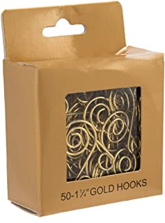 Kurt Adler Ornament Hook, 1.25-Inch, Gold, Set of 50