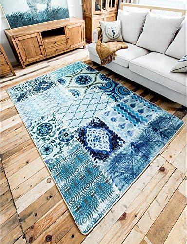Genuine LELVA European-Style Rug Mediterranean-Style Bedroom Living Roo Max 53% OFF