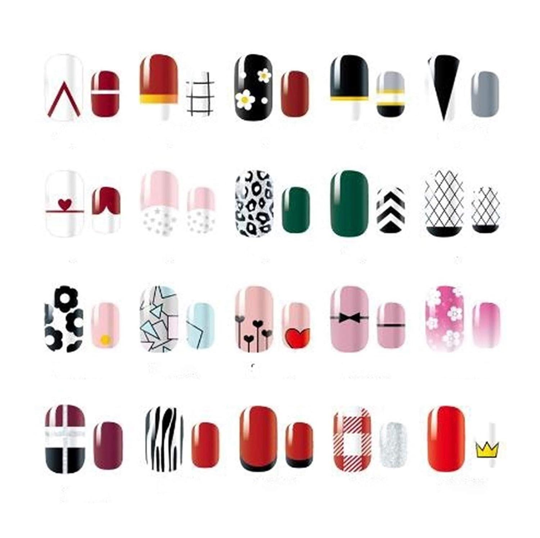 YSHG 14 Tips Lattice Geometric Art Pattern New Free Shipping Nail Color Stickers Popular overseas