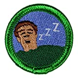 Snoring Novelty Merit Badge- 1.5' Embroidered Patch with Adhesive Backing