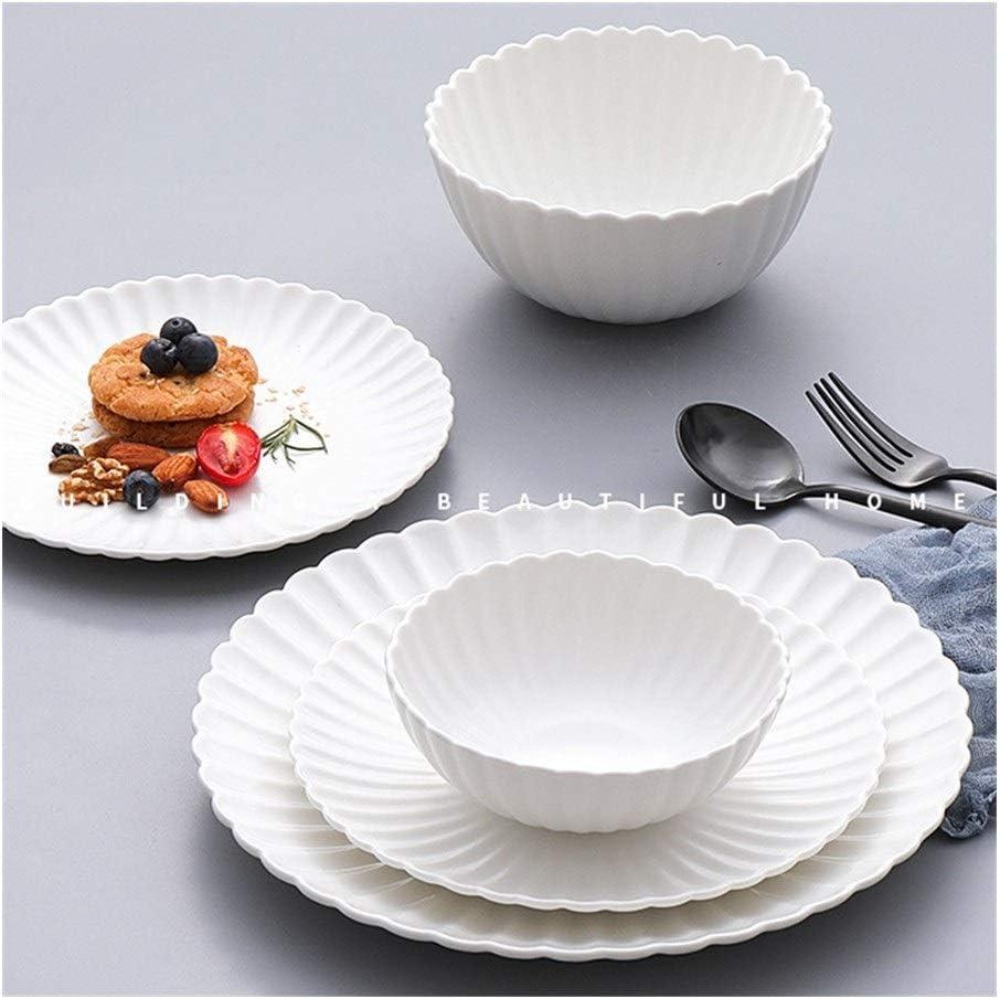 JXXXJS Dinner Plates White Round Salad Dinnerware Kitchen Philadelphia Mall For sale St