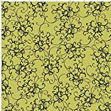Loralie Designs Elegant Scroll Green 45cmx54cm:ロラライハリス、