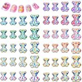 132 Pieces 3D Cute Resin Bear Nail Art Decoration Mini Resin Bear Nail Decal Crystal Bear Shaped Nail Bead Glitter Jelly Ornament in 3 Sizes Nail Art Accessory for Nail Art Design Manicure, 11 Color
