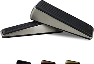 2 Pack Door Stopper Door Buffers Made of Zinc and Rubber Avoid Drilling Holes Slip- Resistant Bottom Design Robust Door Wedge Safe for All Floor