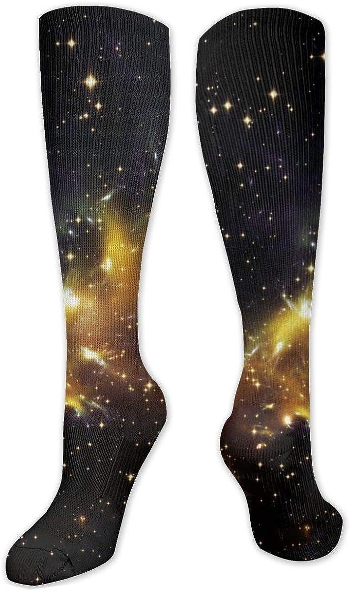 Space Star Dark Pattern Knee High Socks Leg Warmer Dresses Long Boot Stockings For Womens Cosplay Daily Wear