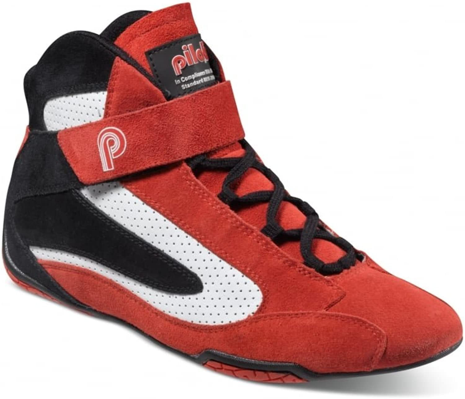Competizione FIA Approved Racing Boots, Suede and Leather, Red Red Red with Black and White Detail B00XZXPIMO  95be5d