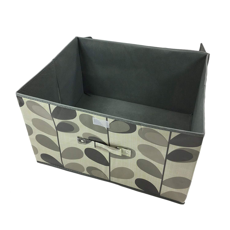 Caja de pecho de almacenamiento, diseño de hojas brillantes, color beige, grande, 50 x 30 x 40 cm: Amazon.es: Jardín