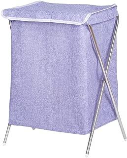 Q.AWOU Laundry Baskets Linen Foldable Dirty Hamper Clothes Sundries Storage Basket, 37 33 53cm (Color : Purple, Size : B)