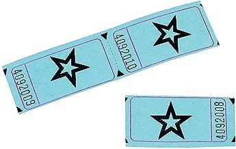 Blue Single Roll Raffle Tickets W/Star, 2000 Tickets