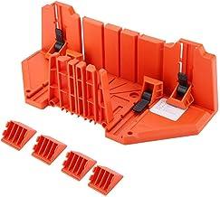 Kireina La Caja de ingletes para carpintería, la Caja de inglete de plástico, la poda VIO, la Mano de Corte de Madera VIO la Herramienta de Hardware 14 Pulgadas con Abrazadera