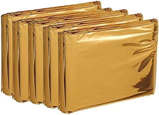 エピオス 防災用品 アルミシート コンパクト サバイバルシート 非常用アルミ ブランケット (防寒・保温・遮熱シート) 軽量 サバイバルシート リバーシブルタイプ (防寒・保温・遮熱シート) 5枚セット