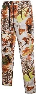 MogogoMen Fit Floral Printed Baggy Regular Classic Stretch Casual Pants