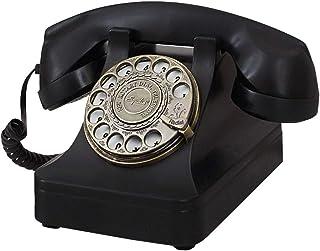 Vintage Telephone Rotating dial Phone Retro Telephone landline Home Fixed Phone - Black