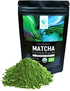 SEEIN Organic Matcha Green Tea Powder (Ceremonial) Non-GMO - USDA Organic & EU Certified - 100% organic matcha Authentic P...