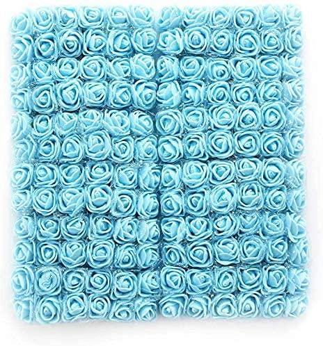huaao 144 stücke Pe Künstlich Blume Rose Mini Schaum 2 cm Künstliche Blumen Bukett Für Hochzeit Dekoration Handwerk Künstliche Blumen Kreative, Blau