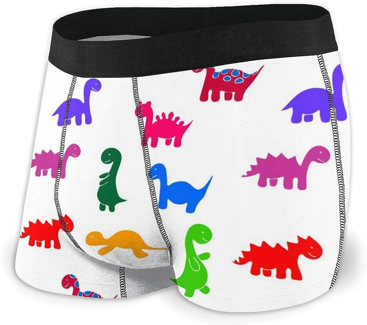 Randolph Wordsworth Mens Boxer Briefs Memphis Cute Dinosaur Breathable Underwear