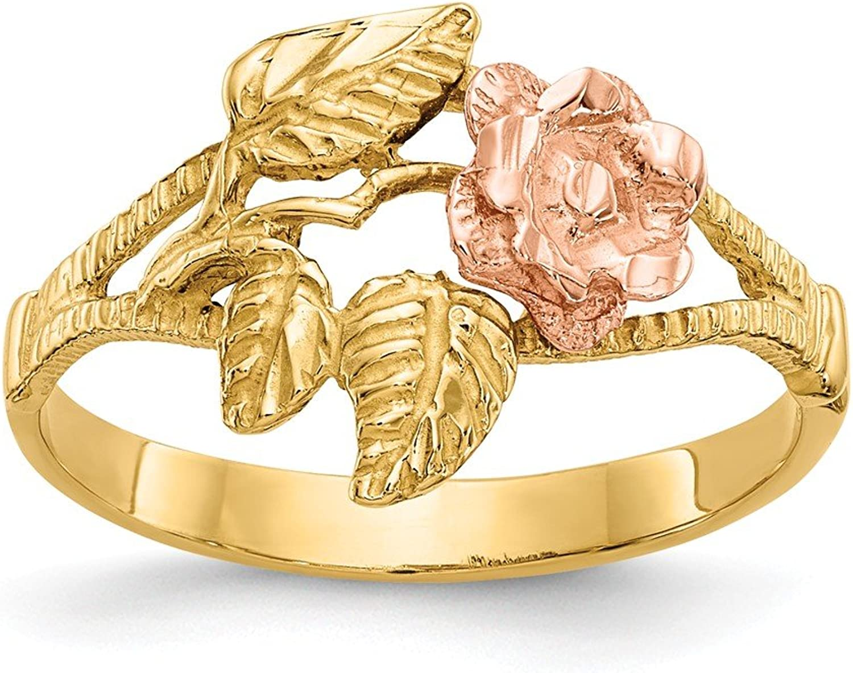 Beautiful White and yellow gold 14K Whiteandyellowgold 14k Twotone DiamondCut pink Ring