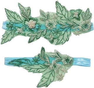 1da1319926 Ealafee 2018 Sexy Embroidery Wedding Garter Set for Bride Floral Prom Leg  Garter