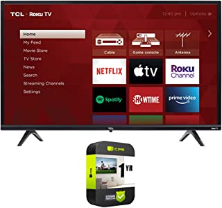 TCL 65S435 65-inch 4-Series 4K Ultra HD Smart Roku LED TV Bundle with 1 Year Extended Protection Plan