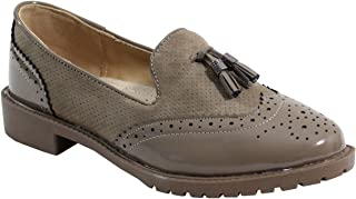 5c8063cfa6c089 Amazon.fr : vernis taupe - 40 / Derbies / Chaussures femme ...