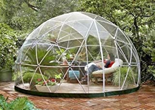 Nice1159 New Garden Geodesic Dome -Gazebo Greenhouse Patio Outdoor Room 107 ft², PVC Frame Canopy-Excellent Stability (Only 3 Sets Left)