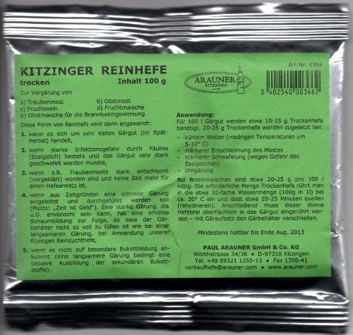 Czyste drożdże Kitzinger 100 g - suche drożdże do produkcji wina