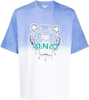 KENZO Luxury Fashion Mens FA55TS5014YG65 Light Blue T-Shirt |