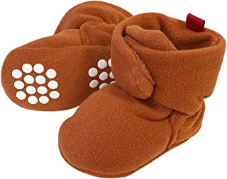 Pink XFentech Kids Cute Warm Cotton Toddler Anti-slip Socks Winter Baby Solid Color Wave Point Shoes Boots Slipper